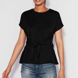 NEW Express Black Tie Front Top Sz L ::
